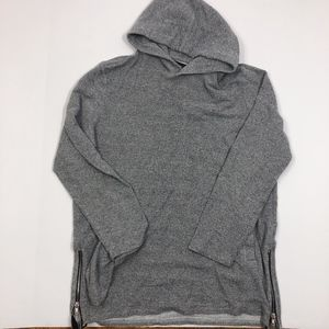 PacSun Textured Gray Hoodie with Side Zippers Sz L